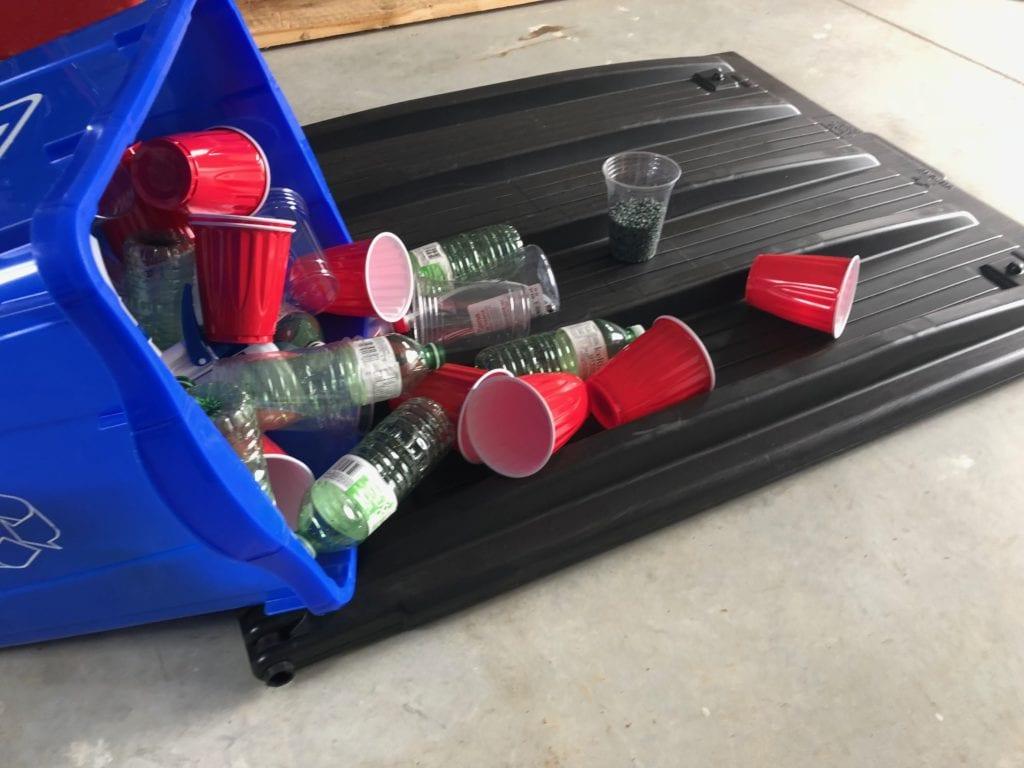 100% recycled dumpster bin lids